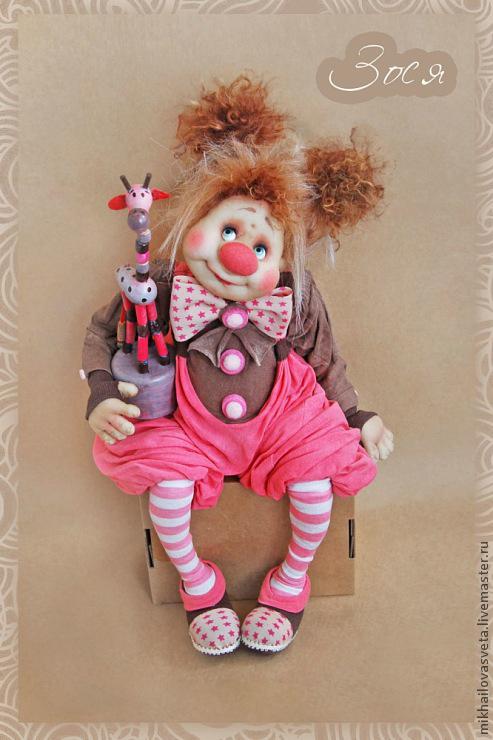 Куклы клоун из ткани