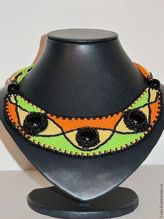 """Колье, бусы ручной работы. Ярмарка Мастеров - ручная работа. Купить Колье """"Африканские мотивы"""". Handmade. Колье, этно стиль"""