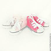 Материалы для творчества ручной работы. Ярмарка Мастеров - ручная работа Кеды х/б, 7,5см. Обувь для кукол.. Handmade.