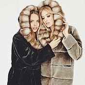 Одежда ручной работы. Ярмарка Мастеров - ручная работа Шуба из стриженного бобра и куницы. Handmade.