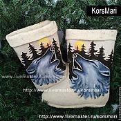 Обувь ручной работы. Ярмарка Мастеров - ручная работа валенки WOLF. Handmade.