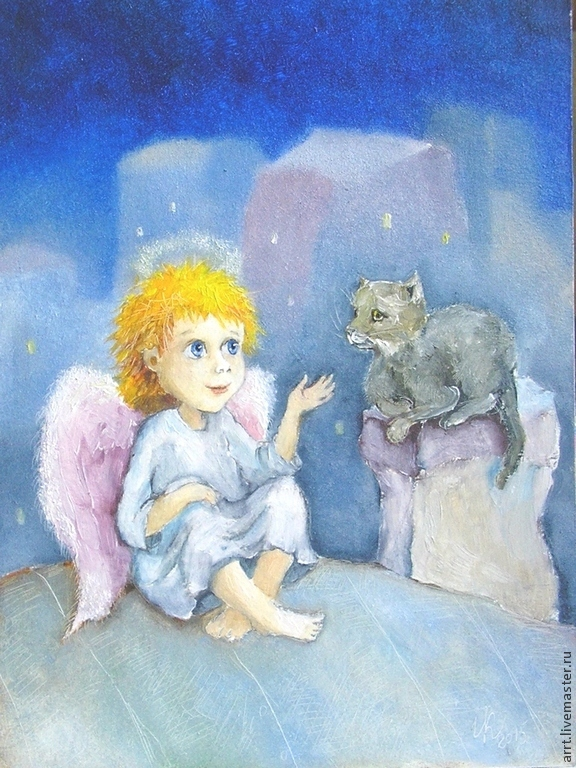 Angel cat and the Inspiration is the painting decor nursery, Pictures, St. Petersburg,  Фото №1