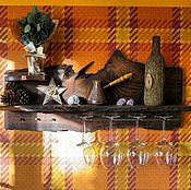 Для дома и интерьера ручной работы. Ярмарка Мастеров - ручная работа Полочка на кухню из дубовой доски.. Handmade.
