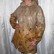 """Одежда ручной работы. Ярмарка Мастеров - ручная работа Пальто валяное с капюшоном """"Климт"""". Handmade."""