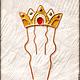Заколки ручной работы. гребень Корона Царская. Екатерина Титова. Ярмарка Мастеров. Заколка для волос, медный гребень