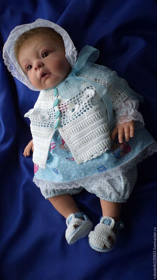 """Одежда для кукол ручной работы. Ярмарка Мастеров - ручная работа. Купить комплект """" Летнее настроение"""". Handmade. Голубой"""