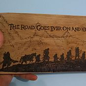 Для дома и интерьера handmade. Livemaster - original item Cutting Board the Lord of the rings