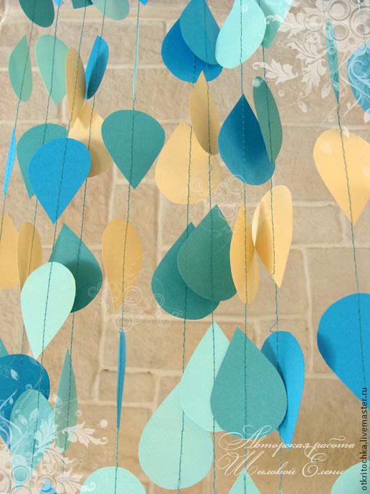 """Свадебные аксессуары ручной работы. Ярмарка Мастеров - ручная работа. Купить гирлянда """"Летний дождик"""". Handmade. Гирлянда, дождик, дождь"""