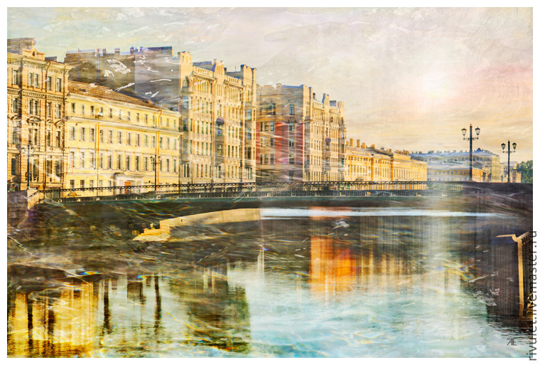 Views of St. Petersburg Photo pictures for interior room `Between heaven and water from the
