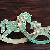Куклы и игрушки ручной работы. Ярмарка Мастеров - ручная работа Лошадки-качалки Мама-коня и Ляля-коня. Handmade.