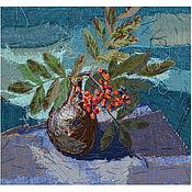 Картины и панно handmade. Livemaster - original item Textile painting Rowan. Handmade.