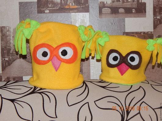 Шапки ручной работы. Ярмарка Мастеров - ручная работа. Купить Шапочки. Handmade. Комбинированный, шапка, шапочка, шапка детская, совушки