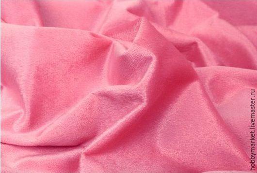 Шитье ручной работы. Ярмарка Мастеров - ручная работа. Купить Плюш на трикотажной основе (розовый №2). Handmade. Ткань