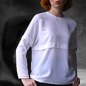 Одежда ручной работы. Ярмарка Мастеров - ручная работа Блуза без воротника. Handmade.