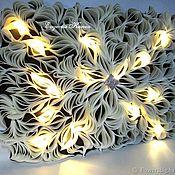 Для дома и интерьера handmade. Livemaster - original item 3D panel Lamp wireless Picture with lighting wall decor. Handmade.