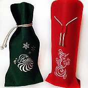 Сувениры и подарки handmade. Livemaster - original item Gift case packing, bottle Snowman. Handmade.