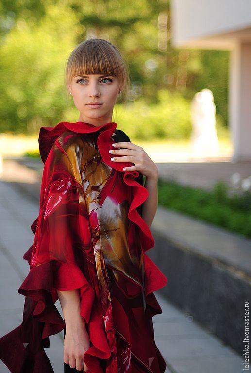 """Палантин """"Пламя"""", Женские сумки, Пенза, Фото №1"""