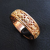 Украшения handmade. Livemaster - original item Engagement ring red gold. Handmade.