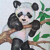 """Одежда ручной работы. Ярмарка Мастеров - ручная работа Топ батик """"Панда"""", шифон.. Handmade."""