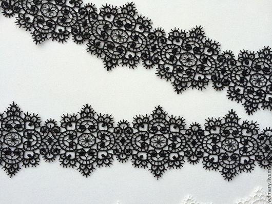 Аппликации, вставки, отделка ручной работы. Ярмарка Мастеров - ручная работа. Купить Кружево Арт. 5814 черный. Handmade. Кружево