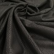 Материалы для творчества handmade. Livemaster - original item Fabric: Artificial black sheepskin coat. Handmade.