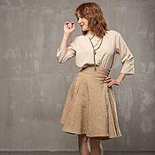 Одежда handmade. Livemaster - original item V_008 mini sun Skirt, latte color.. Handmade.