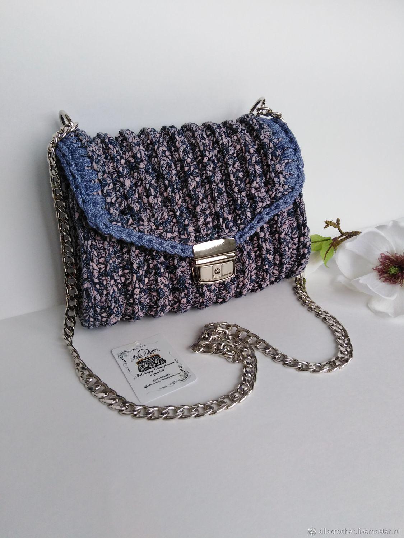 93a124a10a56 Женские сумки ручной работы. Сумка кроссбоди из трикотажной пряжи. Alla  Crochet handmade bags.