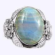 Украшения ручной работы. Ярмарка Мастеров - ручная работа Кольцо голубой агат в серебре. Handmade.