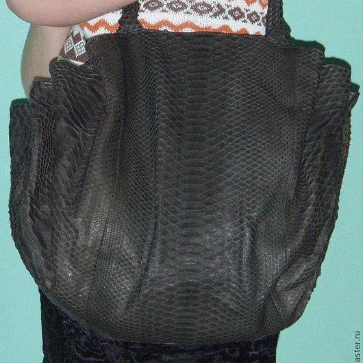 Женские сумки ручной работы. Ярмарка Мастеров - ручная работа. Купить Шикарная сумка из питона. Handmade. Сумка, натуральная кожа