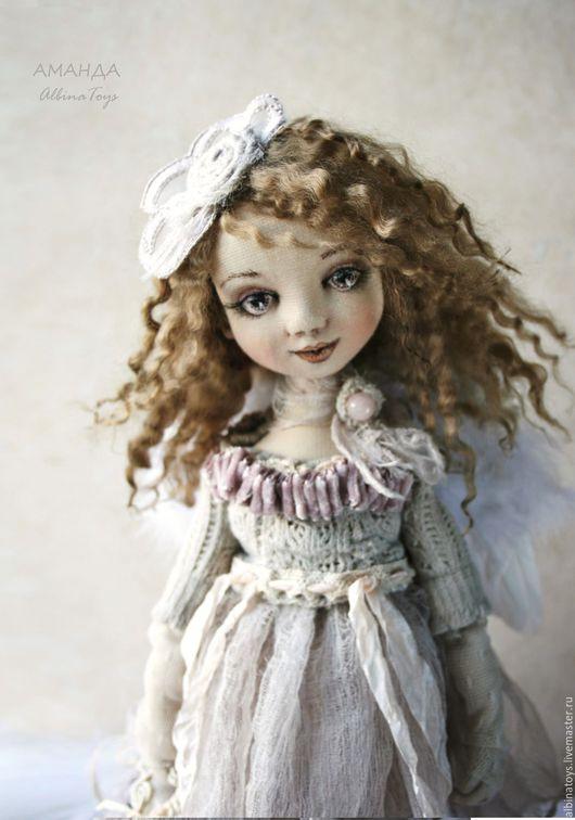 Текстильные куклы. Текстильная кукла. Коллекционный ангел. Кукла ангел  AlbinaToys