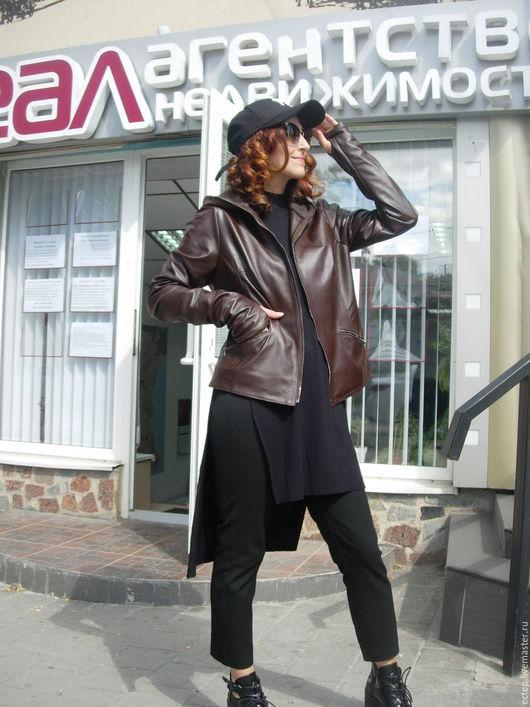 """Верхняя одежда ручной работы. Ярмарка Мастеров - ручная работа. Купить Куртка из кожи """"Шоколад"""". Handmade. Меховая куртка"""