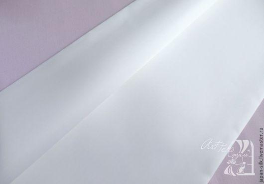 Ткань для цветов ручной работы. Ярмарка Мастеров - ручная работа. Купить Фезасатин (перьевой сатин). Handmade. Белый, сатин