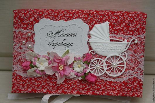 """Подарки для новорожденных, ручной работы. Ярмарка Мастеров - ручная работа. Купить """"Мамины сокровища"""" для девочки. Handmade. Ярко-красный, подарок"""