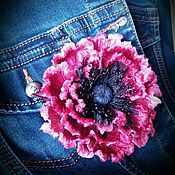 Цветы ручной работы. Ярмарка Мастеров - ручная работа Бархатный мак на каждый день. Handmade.