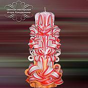 """Сувениры и подарки ручной работы. Ярмарка Мастеров - ручная работа Резная свеча """"Грань"""" высотой 22 см.. Handmade."""