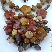 Украшения handmade. Livemaster - original item NECKLACE 2 strands + EARRINGS pendant AGATE and JASPER beads.. Handmade.