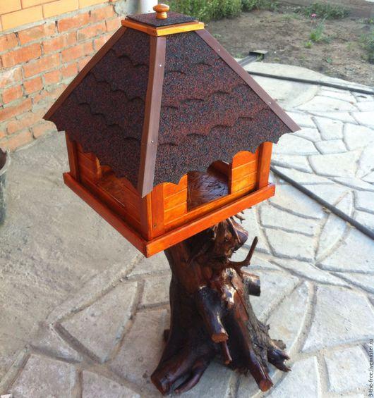 Экстерьер и дача ручной работы. Ярмарка Мастеров - ручная работа. Купить Кормушки для птиц на заказ. Handmade. Массив дерева
