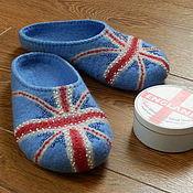 """Обувь ручной работы. Ярмарка Мастеров - ручная работа Тапочки  """"Английский стиль"""". Handmade."""