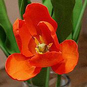 Цветы и флористика handmade. Livemaster - original item Tulips. Bouquet of tulips.A bouquet of flowers.Modeling.Polymer clay.. Handmade.