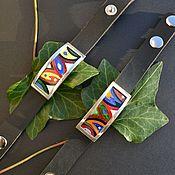 Браслет жесткий ручной работы. Ярмарка Мастеров - ручная работа Браслет на кожаном ремешке. Handmade.