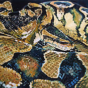 Картины и панно handmade. Livemaster - original item Picture batik Anaconda. Handmade.