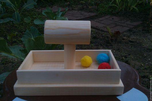 Развивающие игрушки ручной работы. Ярмарка Мастеров - ручная работа. Купить скользящие мягкие шарики Монтессори. Handmade. Золотой, Монтессори