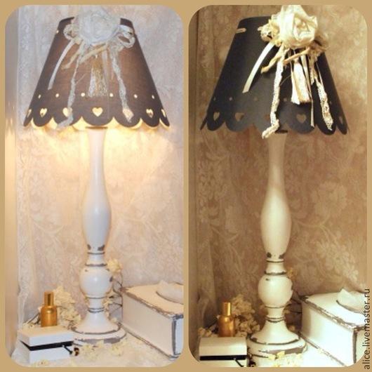 """Освещение ручной работы. Ярмарка Мастеров - ручная работа. Купить """"Французский винтаж"""" лампа. Handmade. Серый, винтаж, будуар"""