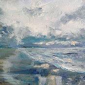 Картины и панно ручной работы. Ярмарка Мастеров - ручная работа Картина Море утром. Handmade.