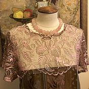 Одежда ручной работы. Ярмарка Мастеров - ручная работа Платье с кружевом Шантильи. Handmade.