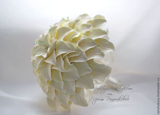 """Свадебные цветы ручной работы. Ярмарка Мастеров - ручная работа. Купить Букет невесты """"Гламелия"""". Handmade. Кремовый, букет цветов"""