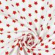 Шитье ручной работы. Ярмарка Мастеров - ручная работа. Купить Ткань красные звездочки. Handmade. Комбинированный, бело-красный