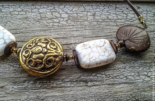 """Колье, бусы ручной работы. Ярмарка Мастеров - ручная работа. Купить Ожерелье """"Патан"""". Handmade. Ожерелье, строгий, латунь"""