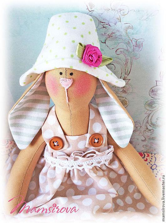 Куклы Тильды ручной работы. Ярмарка Мастеров - ручная работа. Купить Пасхальный заяц Тильда. Handmade. Бежевый, текстильная игрушка