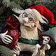 Коллекционные куклы ручной работы. Ярмарка Мастеров - ручная работа. Купить Дед Мороз. Handmade. Новый Год, проволока